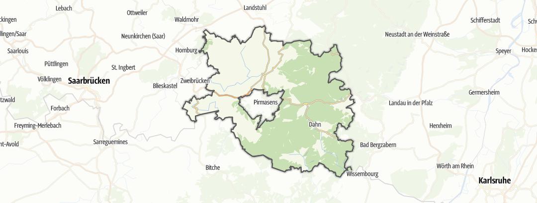 Karte / Wanderungen in der Südwestpfalz