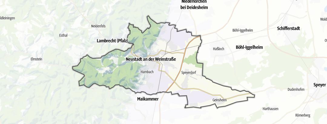 Mapa / Rutas de peregrinación en Neustadt an der Weinstrasse