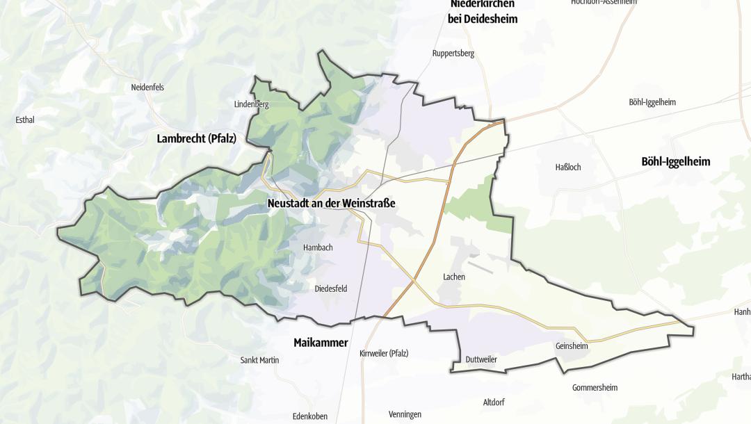 Mapa / Neustadt an der Weinstrasse