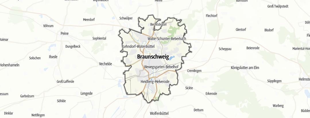 Mapa / Caminhada em Braunschweig