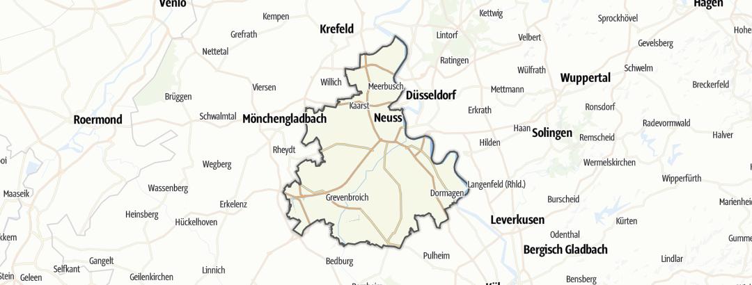 Hartă / Trasee de ciclism montan in Rhein-Kreis Neuss
