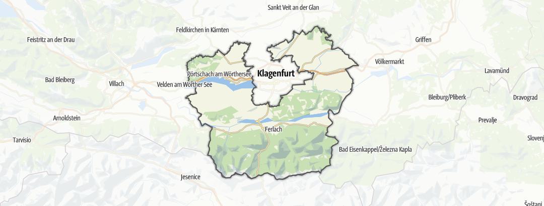 Karte / Bergtouren in Klagenfurt Land