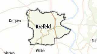 Karte / Krefeld