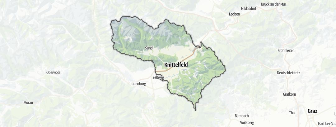 מפה / בתי נופש ב Knittelfeld