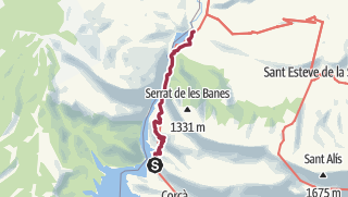 Map / Mont-Rebei: Route der Schlucht von Mont-Rebei
