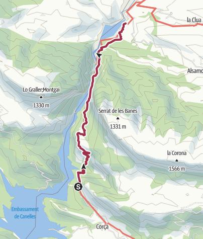 Mont-Rebei: Route der Schlucht von Mont-Rebei • Wanderung ...