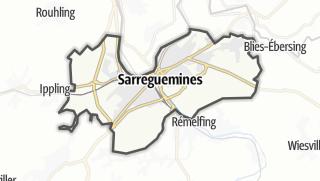 Mapa / Sarreguemines