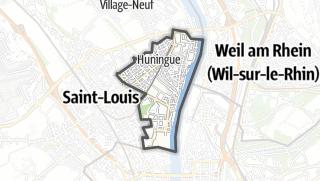 מפה / Huningue