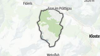 מפה / Conters im Prättigau