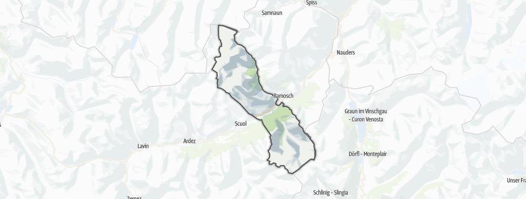 Mapa / Rutas BTT en Sent