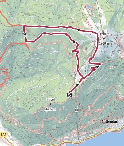 Karte / Kanzelhöhe Gerlitzen Steinwender Hütte