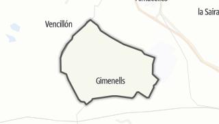 地图 / Gimenells i el Pla de la Font
