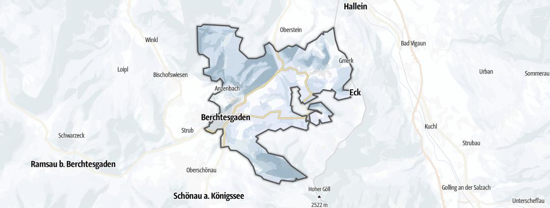 Mapa / Zimní sporty v oblasti Berchtesgaden