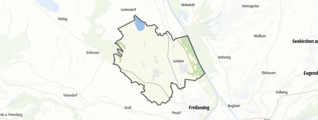 Karte / Wandern in Saaldorf-Surheim