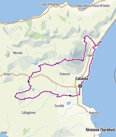 Karte / Volleyballer-Tour Sizilien, Mai 2014