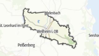Carte / Weilheim in Oberbayern