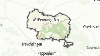 Carte / Weissenburg in Bayern
