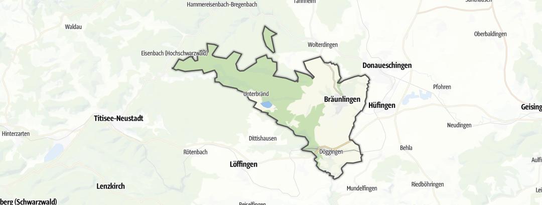 Karte / MTB-Touren in Bräunlingen