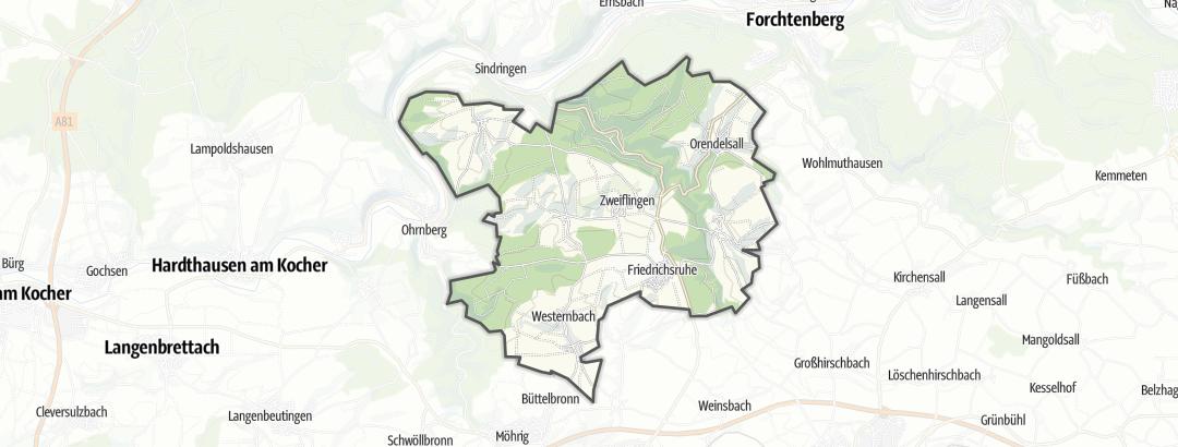 מפה / טיולי אופניים בZweiflingen