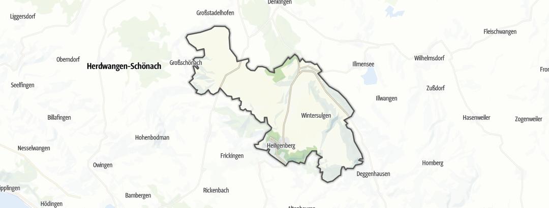 Karte / Wanderungen in Heiligenberg