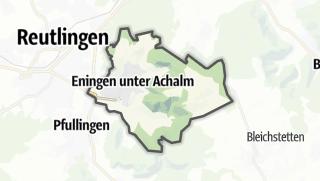 地图 / Eningen unter Achalm