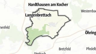 地图 / Langenbrettach