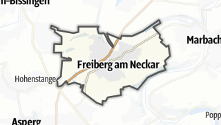 地图 / Freiberg am Neckar