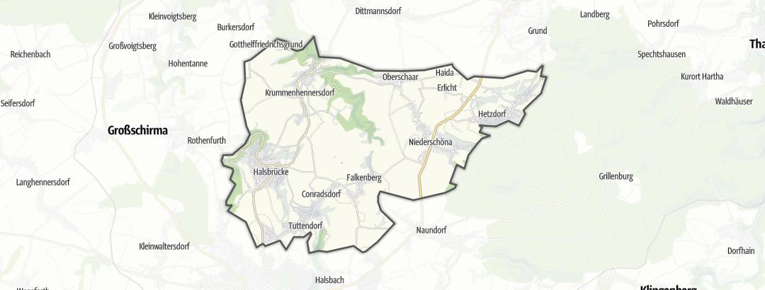 Karte / Pilgerwege in Halsbrücke