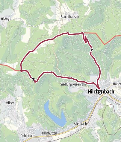 Karte / Rundwanderweg zum Müsener Schlag