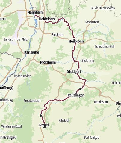 Mappa / Neckartalradweg