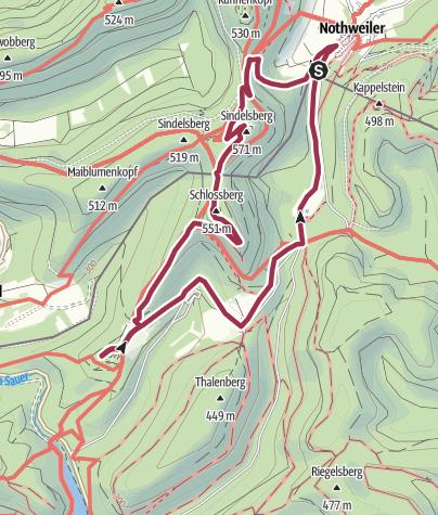 Karte / 4 Burgen-Tour Notweiler kurz