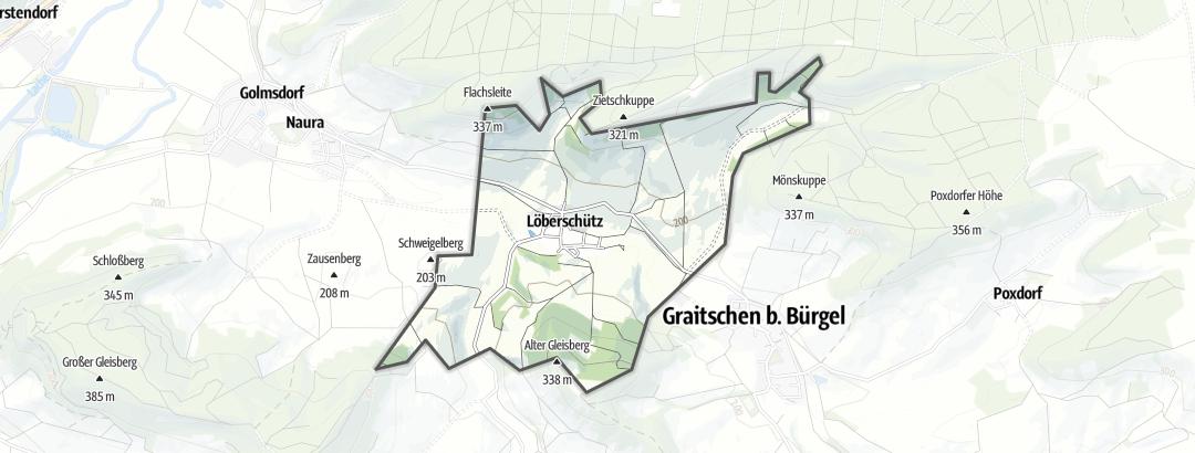 Map / Hikes in Löberschütz