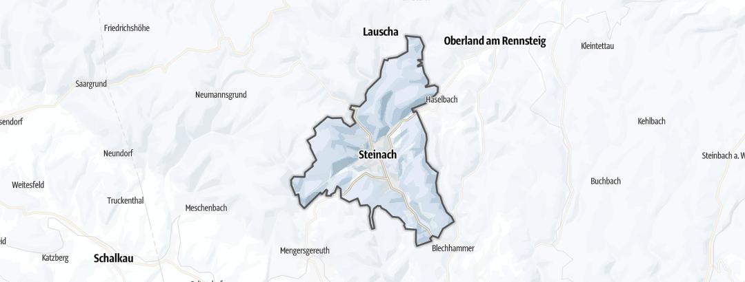 Karte / Langlauf-Loipen in Steinach