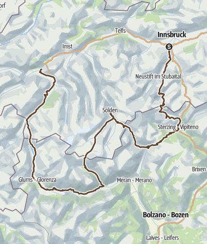 Map / Innsbruck - Landeck-Zams