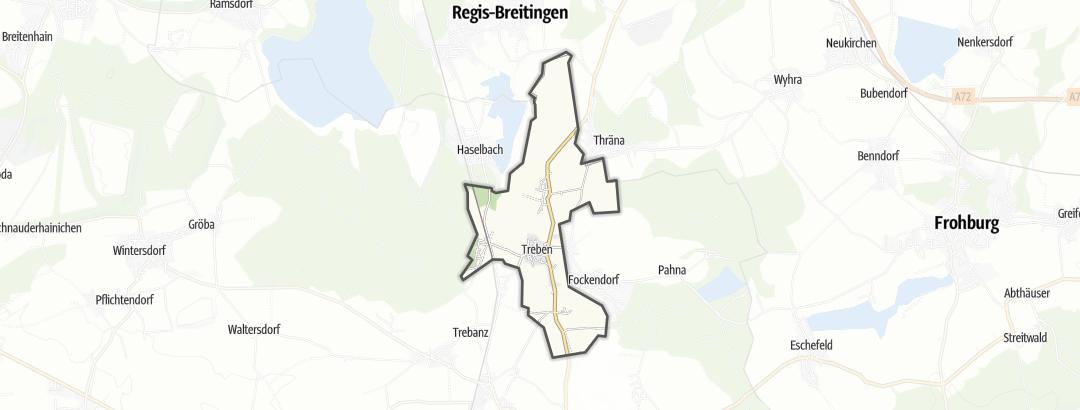 Mapa / Pochody v oblasti Treben