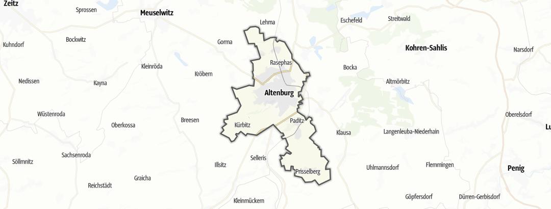מפה / טיולים רגליים ב Altenburg