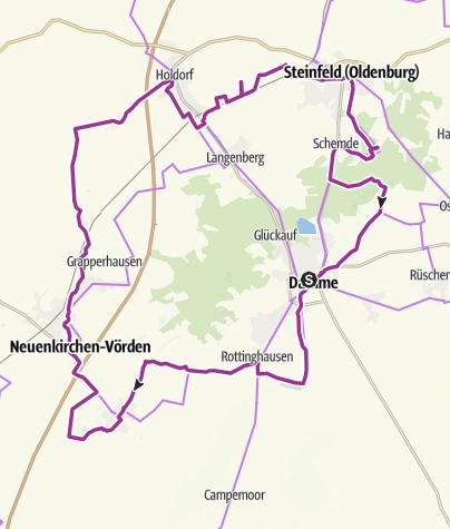 Karte / Rund um die Dammer Berge