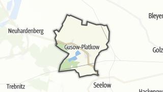 Cartina / Gusow-Platkow
