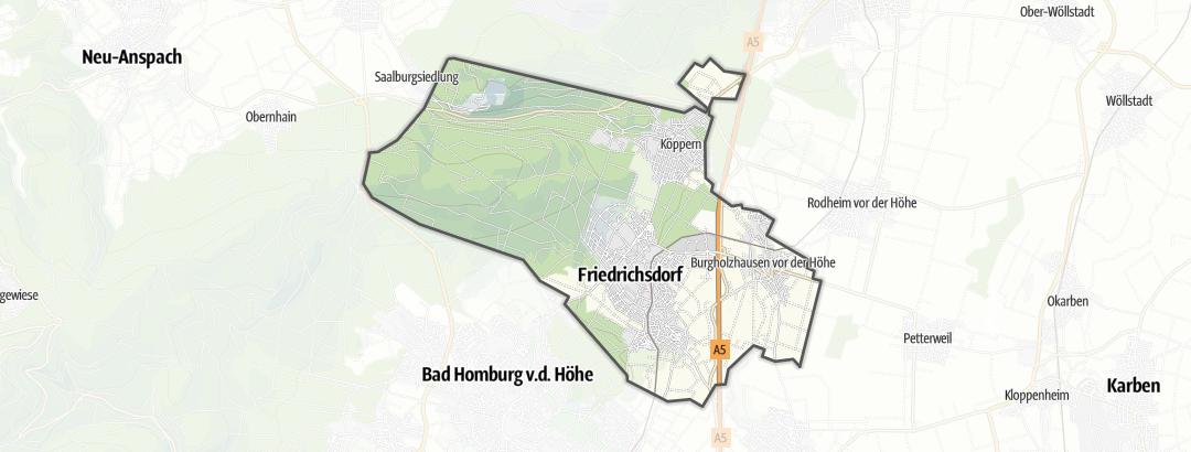 Mappa / Trekking a Friedrichsdorf