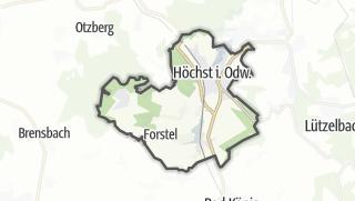 Carte / Hoechst im Odenwald