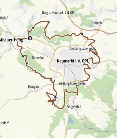 Map / Zeugenbergrunde für Mountenbiker