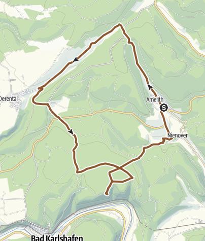 Karte / Durch das Reiherbachtal zum Luk ins Land und zum Schloß Nienover