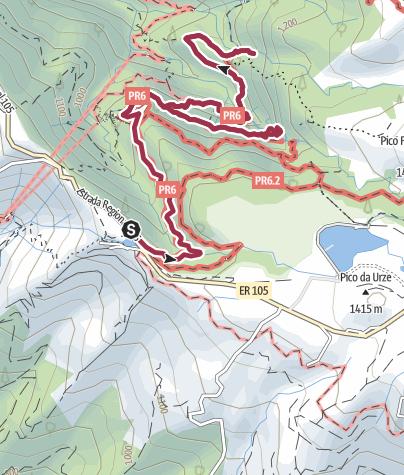 Karte / Zum Risco Wasserfall und den 25 Quellen