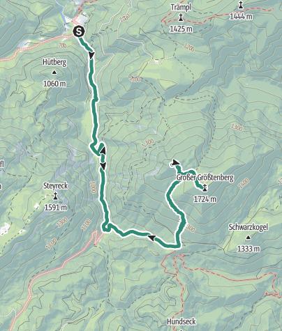 Map / Größtenberg 1724 m, Reichraminger Hintergebirge
