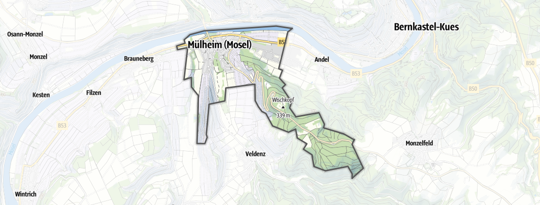 Karte / Wanderungen in Mülheim (Mosel)