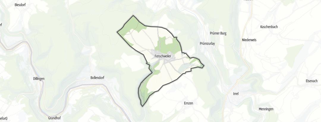 Karte / Wandern in Ferschweiler