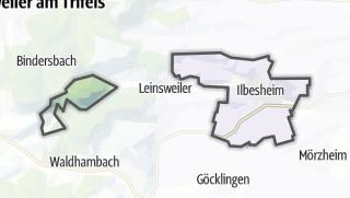 Mapa / Ilbesheim bei Landau in der Pfalz