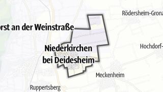 Mapa / Niederkirchen bei Deidesheim