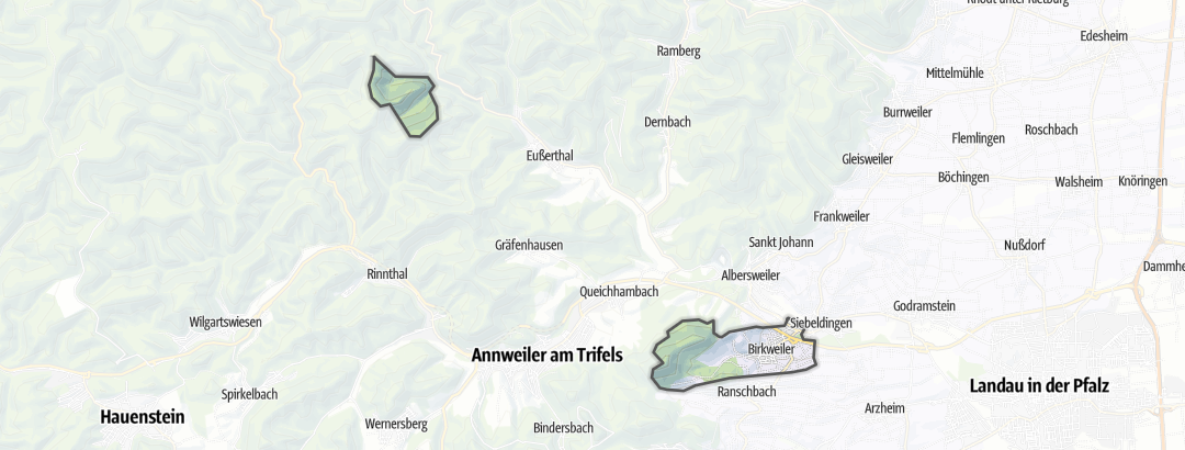 Karte / Wanderungen in Birkweiler