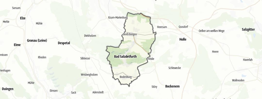 Kartta / Pyöräily kohteessa Bad Salzdetfurth